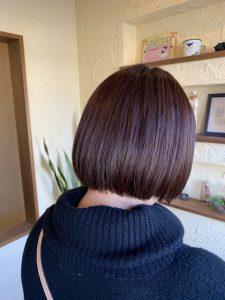 髪質改善ミニボブカラーエステ〜群馬県前橋市の美容室〜