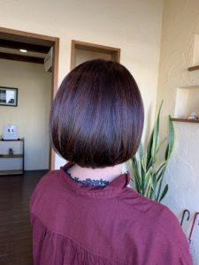 髪質改善カラーエステ綺麗にまとまるミニボブ〜群馬県前橋市の美容室〜